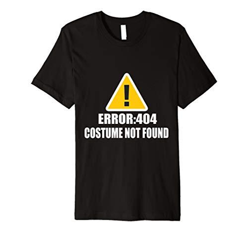 error 404: Shirt–Kostüm nicht gefunden Premium Halloween Tee