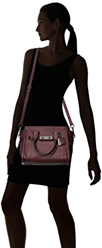 Coach, Borsa a mano donna Dark Antique Nickel/Oxblood