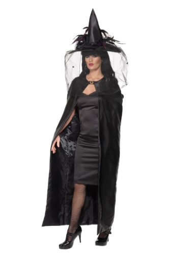Umhang DELUXE WITCH'S CAPE black 36934 ()