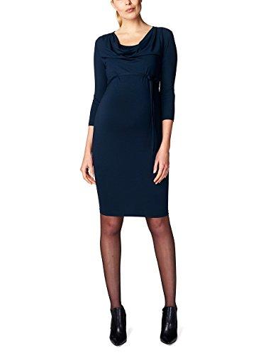 ESPRIT Maternity Damen Umstandskleid Dress nursing, Knielang, Einfarbig, Gr. 40 (Herstellergröße: L), Blau (Night Blue 486)