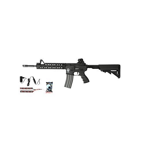 G & G GR15 RIS Raider XL BlowBack Komplettset AEG Softair 6mm BB schwarz -
