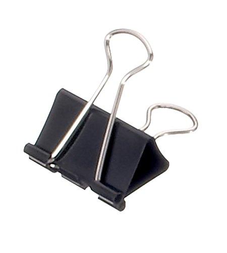 Maul Foldbackklemmer, Original Mauly 19 mm, Schwarz, 2151990, 12 Stück
