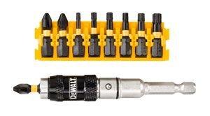 DeWalt Extreme Impact Torsion Schrauberbit-Set (10-tlg, mit schwenkbaren Bithalter und magnetische Hülse, hohe Passgenauigkeit) DT70578T