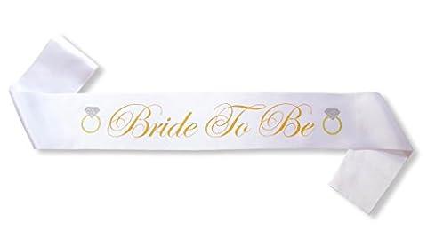 Bride to Be Satin Sash - Bachelorette Party Favors - Bridal Shower Supplies -Wedding Shower Decorations