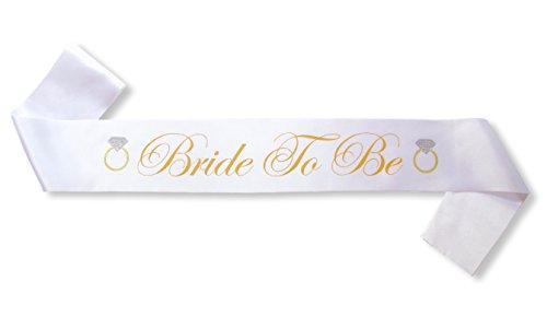 Sterling James Co. Bride to Be Satin Schärpe - Junggesellinnenabschieb - Dekoration - Braut Schmuck Kostüm Accessoires - - Kostüm Schmuck Braut