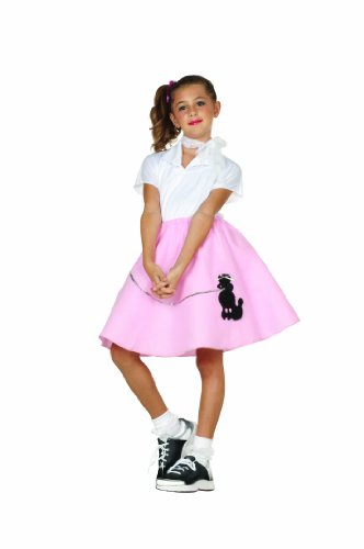 RG Kost-me 91031-PL rosa Pudel Rock Kost-m - Gr--e Child-Large
