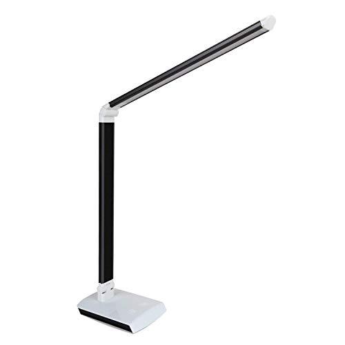 DECKEY 11W LED Schreibtischlampe Tischlampe dimmbare Tischlampe drehbare Bürolampe Leselampe Buchlampe Arbeitslampe 60LEDs (Schwarz)