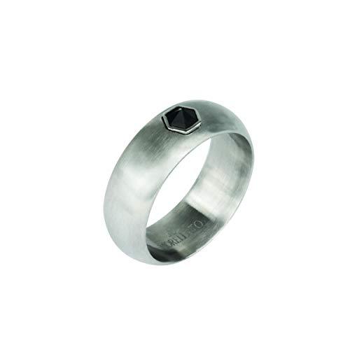 Morellato Anello da uomo Collezione Vela acciaio cristalli SAHC19021