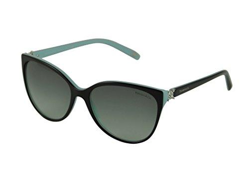 Tiffany & Co. Damen TF4089B Victoria Collection Sonnenbrille, Schwarz (Black Blue 80553C), One size (Herstellergröße: 58)
