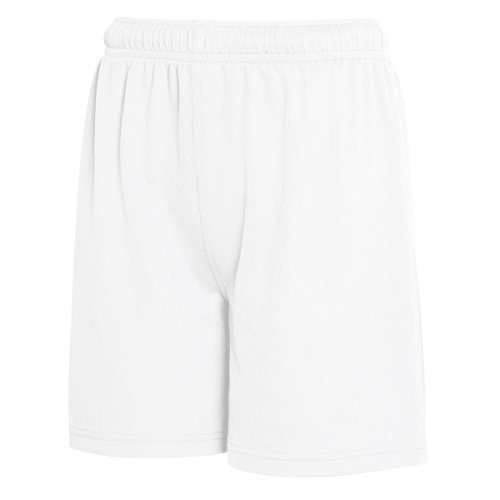 Fruit of the Loom Kinder Performance Shorts mit Feuchtigkeitstransport (14-15 Jahre (164)) (Weiß)