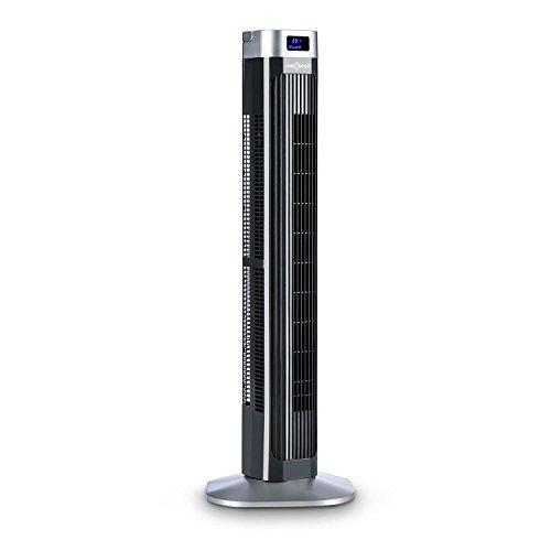 oneConcept Hightower 2G Ventilador de pie con mando distancia (50W potencia, Oscilación...
