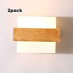 HMDJW Apliques De Pared Minimalistas Modernos Estilo Japonés LED Lámpara De Pared De Madera Maciza Dormitorio Lámparas De Noche Estudio Sala De Estar Balcón Escalera Luz De Pared (Color : B)