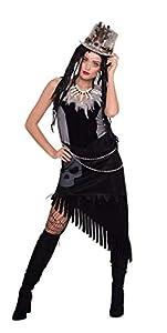 Folat 64053 - Disfraz para mujer, color negro