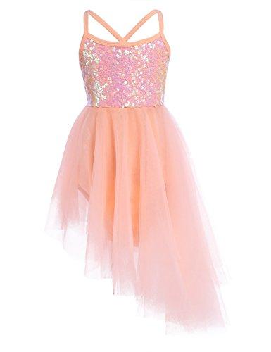 ec6c5b15d Freebily Girls Kids Sequins Ballet Dance Tutu Dress Ballerina Fairy ...
