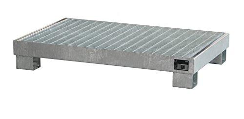 Auffangwanne verzinkt mit Gitterrost, Lagerung von max. 6 x 60-l-Fässer