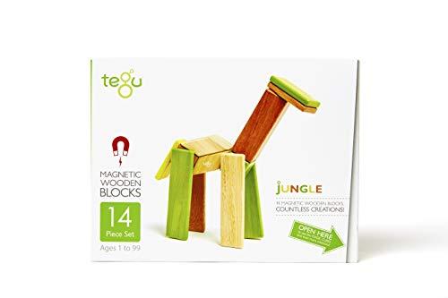 Tegu Juego de Bloques de Construcción de madera magnéticos de 14 piezas - Jungla