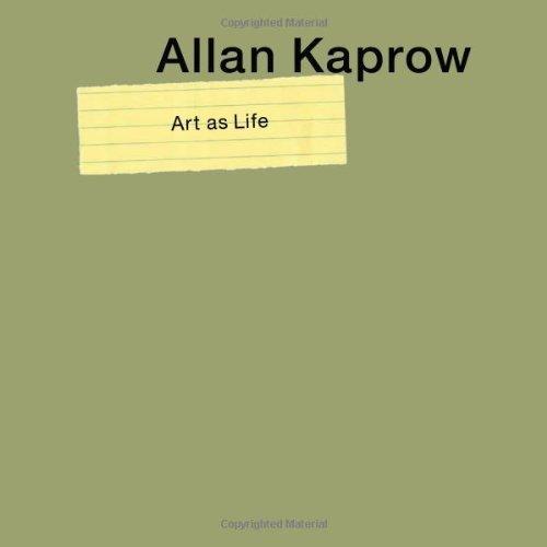 Portada del libro Allan Kaprow--Art as Life by Alex Potts (2008-04-21)