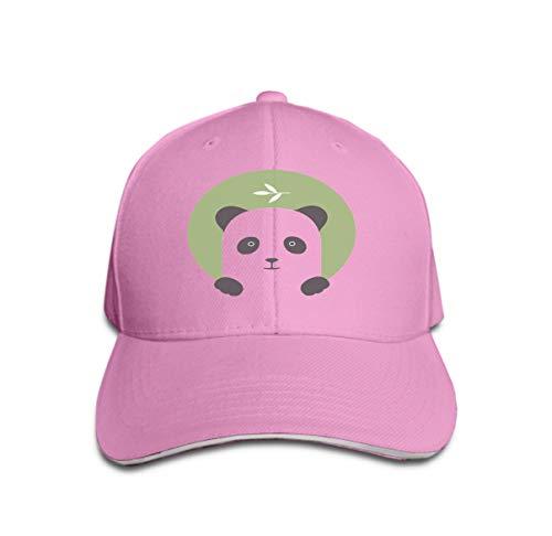 Trucker Hat Unisex Adult Baseball Mesh Cap Animal Set Portrait Flat Panda