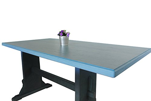 Tavolo da cucina rustico legno azzurro | Negozio tavoli rustici
