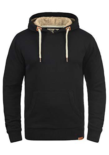 Solid Hoodie Sweatshirt (SOLID TripHood Herren Kapuzenpullover Hoodie Sweatshirt aus hochwertiger Baumwollmischung, Black Pile, M)