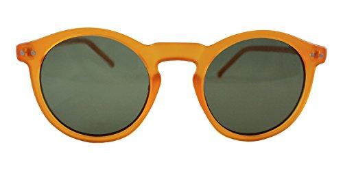 Twice -TW001 Gafas de sol montura naranja con lente verde
