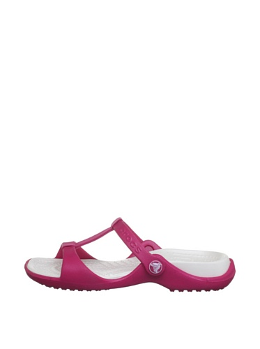 Crocs Cleo III, Sandales femme Rouge (Raspberry/Oyster)