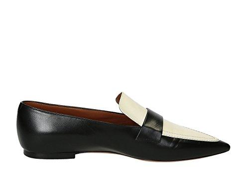 cline-mocassini-donna-315153bplc38no-pelle-bianco-nero