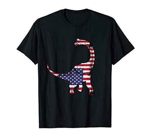 Vierte Juli Patriotischer Dinosaurier T-Shirt (T-shirts Vierter Niedlich, Juli)