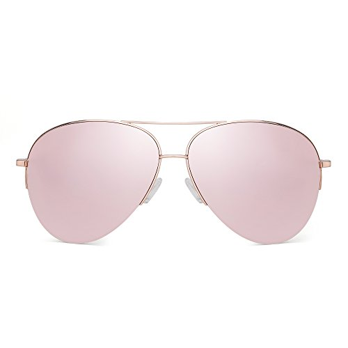 GLINDAR Polarizadas Gafas de Sol Aviador Hombre Mujer Oversize Pl/ástico Conducir Anteojos