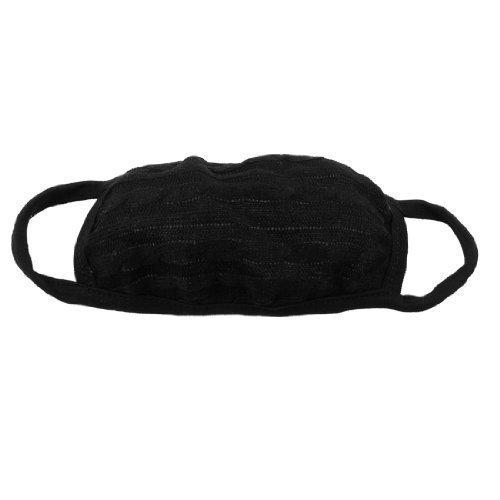 sourcingmap® Noir Acrylique Mélanges De Coton Oreilles Chaude Bouche Contour D'oreille Masque Visage