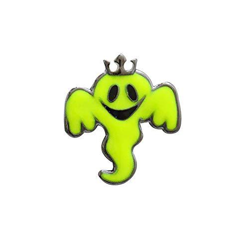 Outflower 1X Halloween Brosche Geist Form Clip Green Fluoreszenz Scarf Pin Kleid Schals Schal Clip Schmuck Tasche Ornament Liebe Geschenk