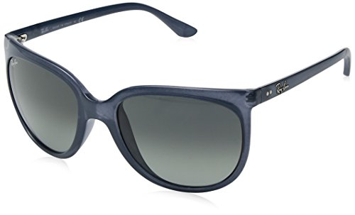 Ray-Ban RAYBAN Damen Sonnenbrille 4126, Transparent Light Blue/Lightgreygradientdarkgrey, 57