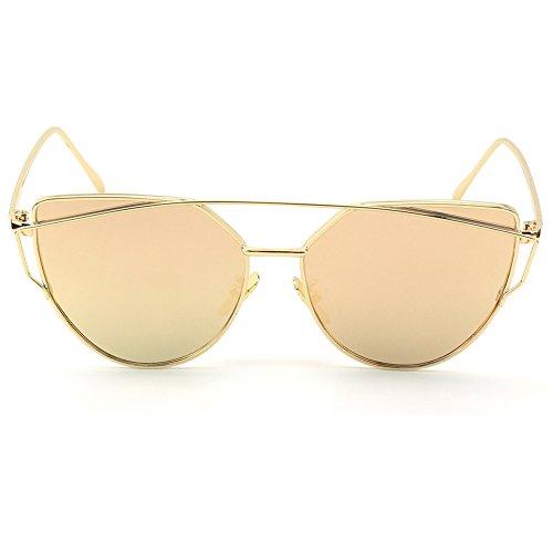 CGID-MJ74-Ojos-De-Gato-Gafas-Gafas-de-sol-para-mujerDorado-Rosa