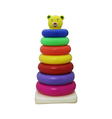 Feathers Toddler Toys Junior Teddy Ring - 7 Rings (Multicolor)
