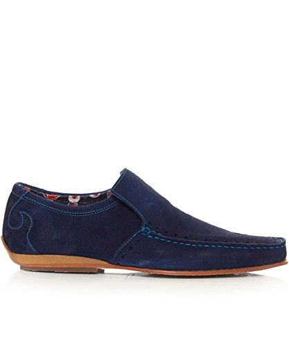 Jeffery-West Hommes mocassins daim Marine Marine