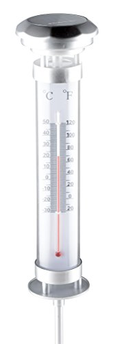 Grundig Solar Light Thermometer, silber, 9 x 9 x 57 cm