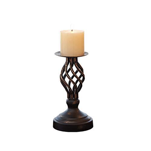 Lovely Schöner klassischer Kerzenständer Retro Kerzenständer Dekoration europäisch amerikanischer Landhaus-Kerzenhalter Hochzeit Kerzenlicht Abendessen Requisiten Tischdekoration, S (Seine Ihre Und Hochzeits-set Trio)