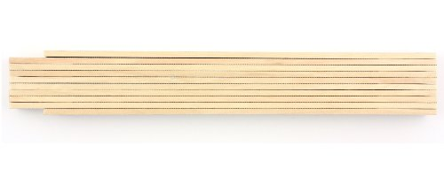 10 Stck Zollstock 2m, 10 Glieder, Natur, lackiert, Gliedermaßstab