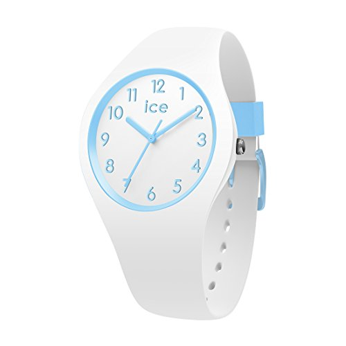 Ice-Watch - ICE ola kids Cotton white - Weiße Jungenuhr mit Silikonarmband - 014425 (Small)