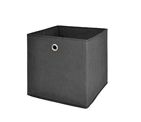 Möbel Akut Faltbox 4er Set in anthrazit, Aufbewahrungsbox für Raumteiler oder Regale