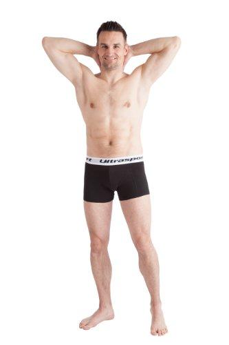 Ultrasport Herren Boxershorts - Unterhose in verschiedenen Farben & Sets 2er Set, Schwarz/Weiß