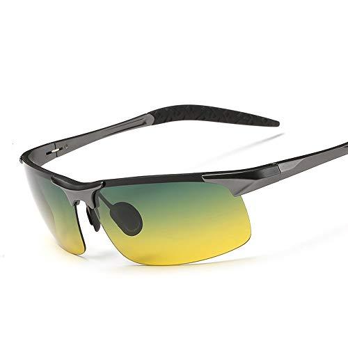 L.Z.H.Brillen Gläser Nacht Fahren Sonnenbrille polarisierte uv400 uv Cut nachtsicht leichte Teardrop Sonnenbrille Angeln Fahren für schneesport (Color : Grau, Size : Kostenlos)