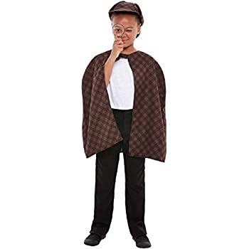 Sherlock Holmes Costume Kids Boys Book Day Detective Victorian Sizes 3-10 Years