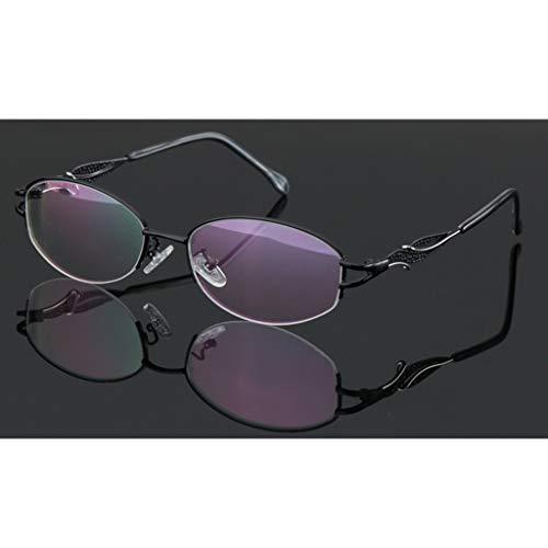 ZY Reading Glasses Metallhalbrahmen-Lesebrille, Übergang photochrome Progressivlinse - für Sonnenbrillen für Herren/Damen
