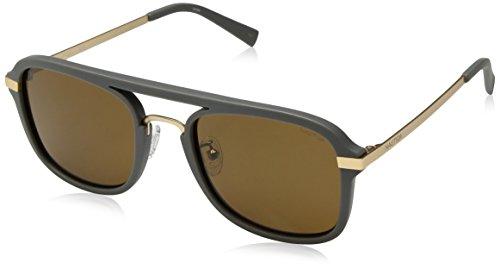 Nautica Men's N4628sp Polarized Aviator Sunglasses, Matte Grey, 56 mm