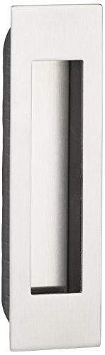Gedotec Design Möbelgriff eckig Muschelgriff Edelstahl Einlassgriff Schiebetür - SLIDO | Griffschale Edelstahl matt | 155 x 45 mm | 1 Stück - Schiebetür-Muschel zum Einlassen für Schubladen & Türen