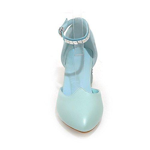 Adee kitten-heels rutschfestem Polyurethan Damen Sandalen Blau