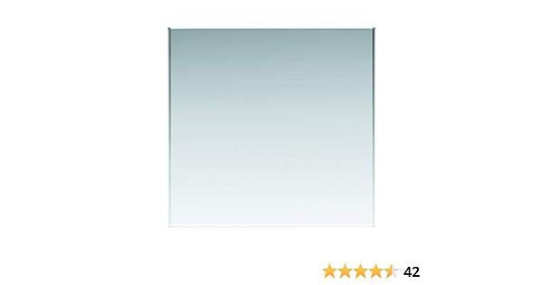Einscheibensicherheitsglas ohne Stempel Glasplatten ESG 4mm biege- und sto/ßbelastbar. Nach Ma/ß bis 70 x 70 cm Kanten geschliffen und poliert klar durchsichtig 700 x 700 mm Ecken gesto/ßen