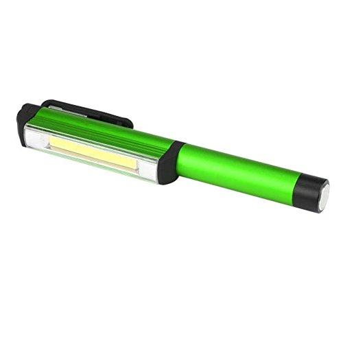Aluminium-licht-lampe (LED Arbeitsleuchte Taschenlampe Campinglicht,COLORFUL Aluminium LED COB CREE Stift Taschenlampen Lampe Licht Magnetische Inspektion Arbeitslampe (Grün))