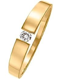 CHRIST Diamonds Diamantring Damen-Ring 585er Gold (gelbgold/roségold/weißgold) 1 Brillant ca. 0,08 ct. (gold)